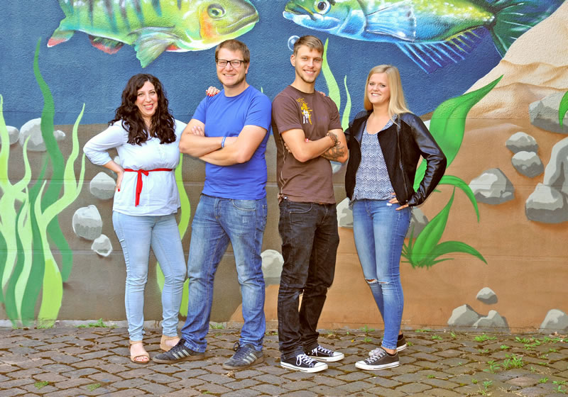 Frau Dedeoglu und Herr Bade (Dipl.-Sozialpädagogen)<br />  Herr Eisenblätter und Frau Bergter (Praktikanten)